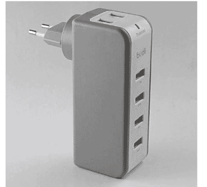 Budi Home Wall Charger 6 USB Port With Swivel Plug – M8j301u