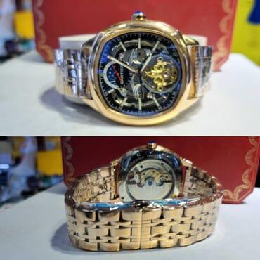 Cartier Analog Engine Wristwatch