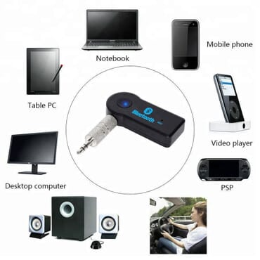 Wireless Music Bluetooth Receiver Adapter AUX Audio  with Mic/Car Wireless Receiver