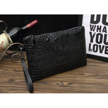 Classic Men Crocodile Body Men Envelope Bag/Big Men Wallet/Wrist Bag