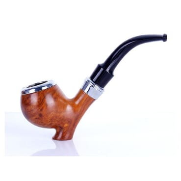 Classic Men Ebony Wood Tobacco Smoking Pipe.