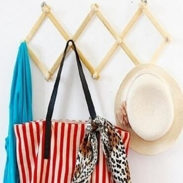 Collapsible Wooden Bag Hanger