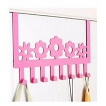 Coloured Over the Door Hanger - Pink
