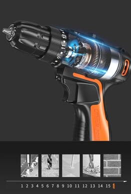 25V Rechargeable Lithium Ion Battery Dremel Rotary Power Drill Tools Electric Hand Drill Cordless Drill Driver Screw Electric Two-Speed Screwdriver Tool With All Kits And Accessories 15x Speed
