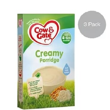 Cow & Gate Baby Creamy Porridge From 4-6mths-3 Packs