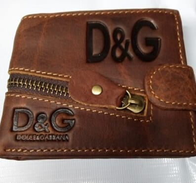 D&G Men's Pure Leather Wallet