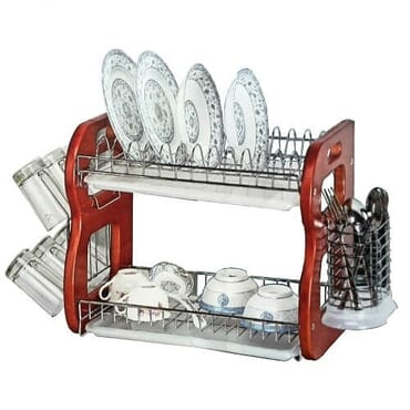 2-Tier Dish Drainer With Cup Holder