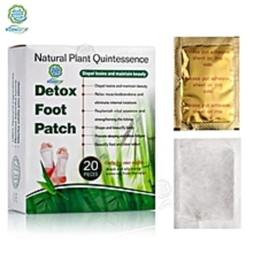 Natural Plant Quintessence Detox Foot Patch Gold X20 Pieces