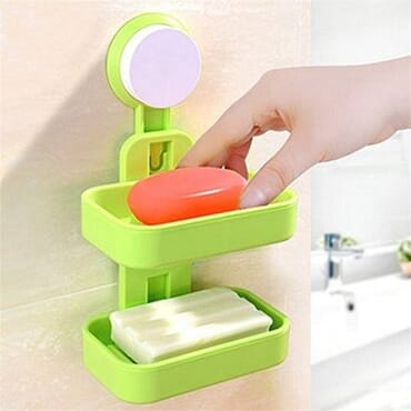 Double Layer Soap Holder-Green