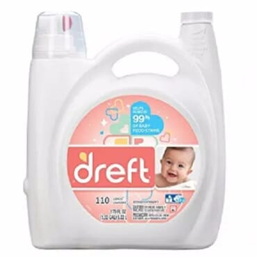 Dreft Ultra Concentrated Liquid Laundry Detergent 150 Oz - 110 Loads