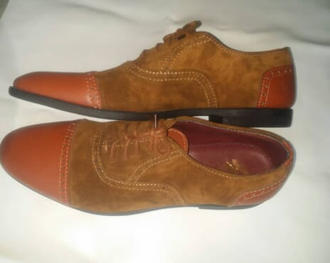 E-Kings Captoe Handmade Oxford Design Brogue Men Shoes