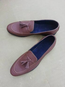 E-Kings Handmade Brown Tassel Loafers