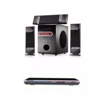 Djack Djack 3.1 Heavy Duty Bluetooth Sub Woofer System - Dj-d3l Plus Free Dvd Player