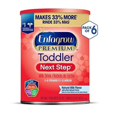 Enfagrow Premium Next Step Toddler Milk Drink Powder & Natural Milk Flavor 32 Oz-Pack Of 6