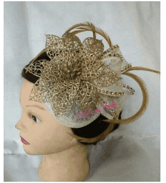 Queen Aurora Fascinator - Gold