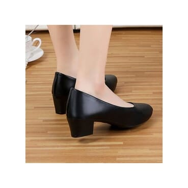 Female Low Block Heel Shoe