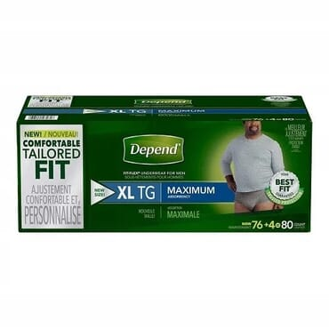 Fit-flex Incontinence Underwear For Men, Xl, 80 Count