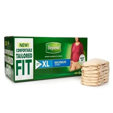 Fit-flex Incontinence Underwear For Women, Xl, 80 Count