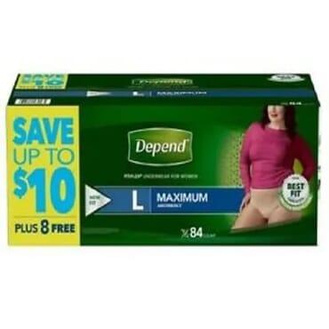 Fit-flex Incontinence Underwear For Women L 84 Count