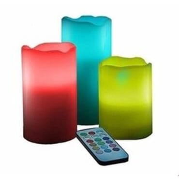 Decorative Flameless Colour Changing Luma Candles with Remote