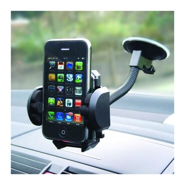 Fly Premium 2 In 1 Best Car Phone Holder With 360 Degree Rotation