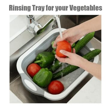 MULTIFUNCTIONAL COLLAPSIBLE CUTTING BOARD AND TRAY