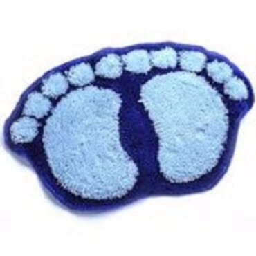 Fluffy Bathroom Footprint Mat