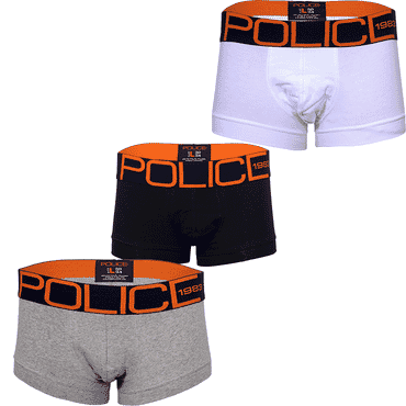 POLICE 0135 3in1 BOXERS BLACK/WHITE/GREY SIZE M - XXL