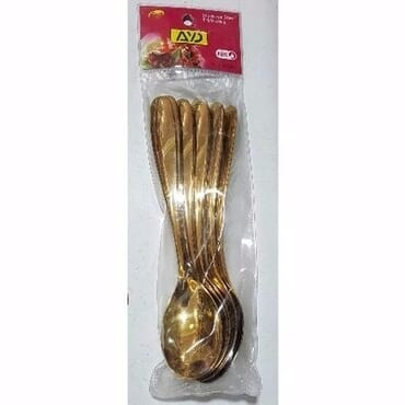 Gold Plated Table Spoons - 6 Pieces