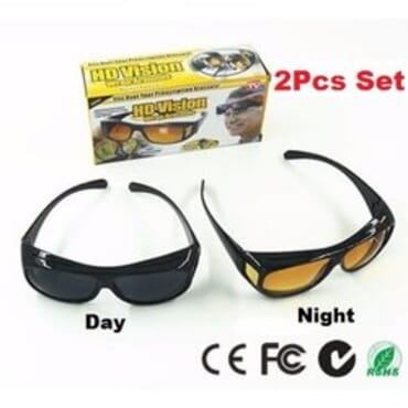 2Pcs HD Vision Day and Night Driving Glasses