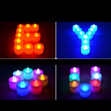 Colorful Electronic Romantic Candle Light - 12 Pieces