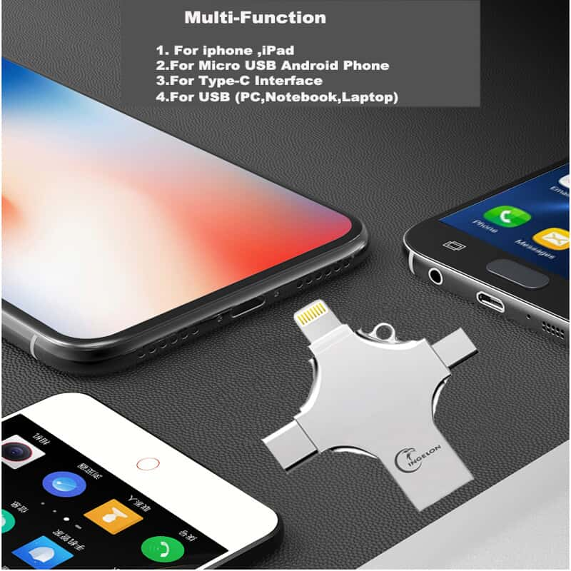 32gb 4in1 USB Flash Drive for iphone, Android, Type C PC