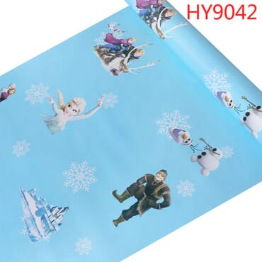 Self-Adhesive Frozen Theme Vinyl Decorative Cartoon Wallpaper