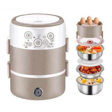 Electric Food Warmer with 3 Stainless steel plates