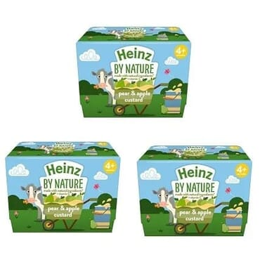 Heinz Fruity Pear & Apple Custard 3 Pack