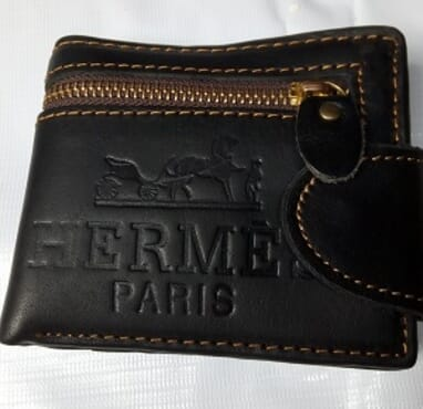 Hermes Foldable Men's Wallet-Black