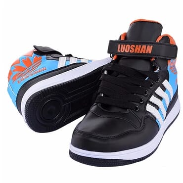 Luoshan High Top Trainers - Black & Blue