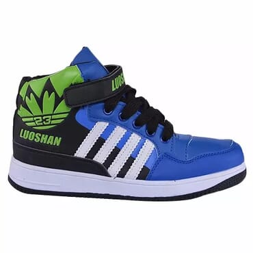 Luoshan High Top Trainers - Blue & Green