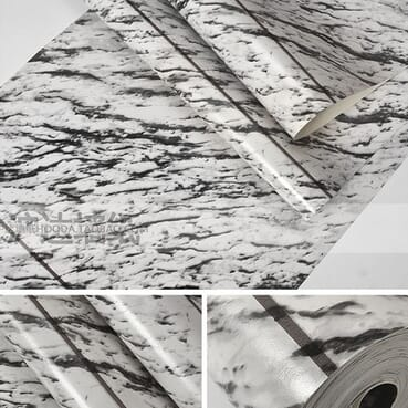 Huda Wallpaper Full Roll Size Of: 10.0x0.53M Simple Modern Imitation Marble Wallpaper/Marble Waterproof PVC Wallpaper.