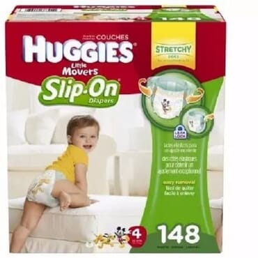 Huggies Little Movers Diaper Pants, Size 4, 148 Count