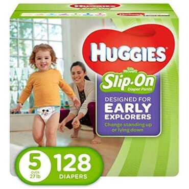Huggies Little Movers Slip On Diaper Pants - 128 - Size 5