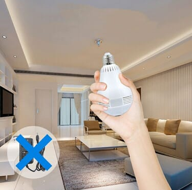 WIFI IP PANORAMIC CCTV BULB CAMERA 3MP