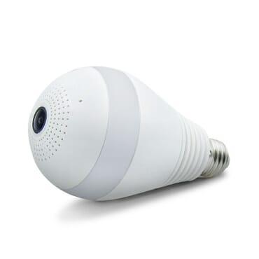 WIFI IP PANORAMIC CCTV BULB CAMERA 3MP