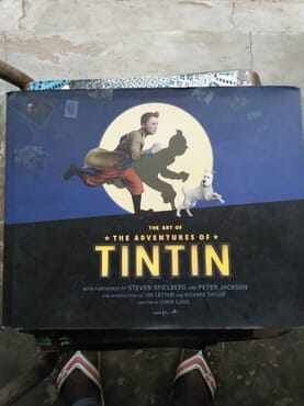 THE ART OF THE ADVENTURE OF TINTIN