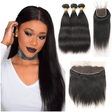 Real Straight Lace Wig