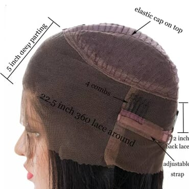 Lace Front Brazilian Human Hair Wig.