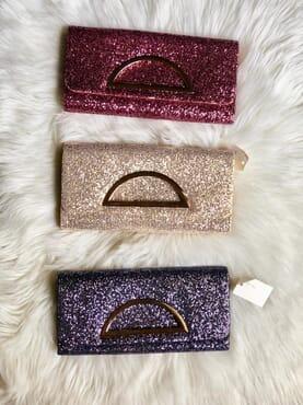 Nissiratti glitter clutch purse