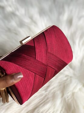 Nissiratti red clutch purse