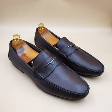 Black Slip On Bit Loafers