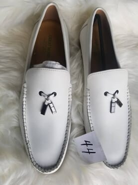 White Great Model loafers genuine leather.